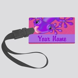 Pink and Purple Personalized Large Luggage Tag
