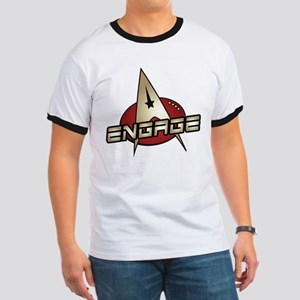 Picard Engage Badge Ringer T