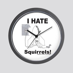 Squirrel Rocket Wall Clock