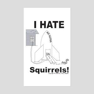 Squirrel Rocket Rectangle Sticker