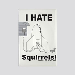 Squirrel Rocket Rectangle Magnet