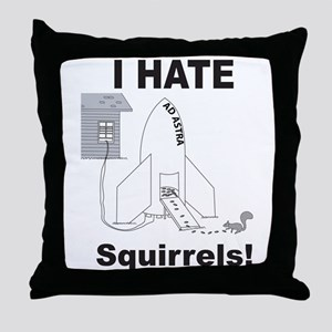 Squirrel Rocket Throw Pillow
