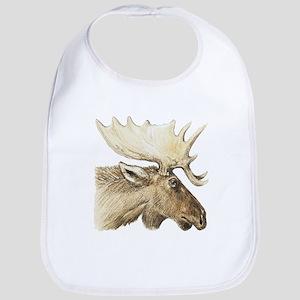 moose drawing Bib