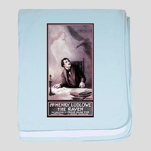 Poe Vintage Raven baby blanket