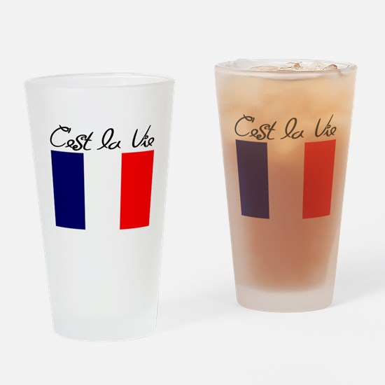 FRENCH Drinking Glass
