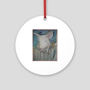 Piglet, animal art! Ornament (Round)