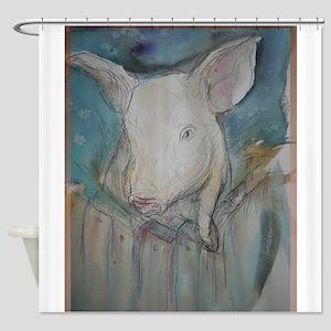 Piglet, animal art! Shower Curtain