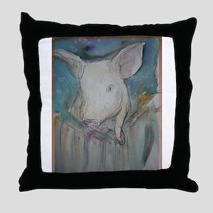 Piglet, animal art! Throw Pillow