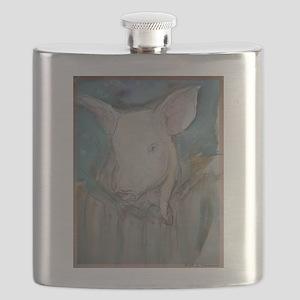 Piglet, animal art! Flask