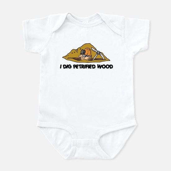 Rockhound I Dig Petrified Wood Infant Bodysuit