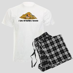 Rockhound I Dig Petrified Wood Men's Light Pajamas