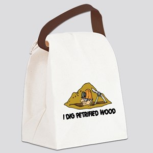 Rockhound I Dig Petrified Wood Canvas Lunch Bag