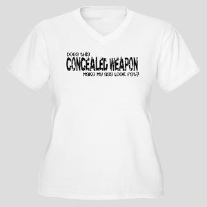 Concealed Weapon Women's Plus Size V-Neck T-Shirt