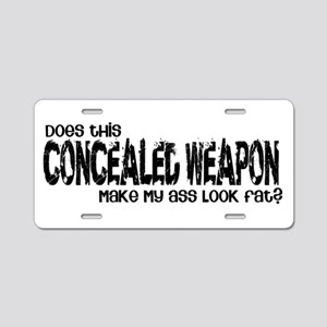 Concealed Weapon Aluminum License Plate