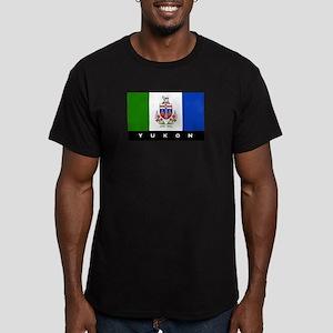 Yukon Flag Men's Fitted T-Shirt (dark)