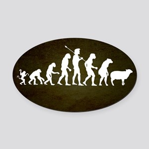 Modern Evolution Oval Car Magnet