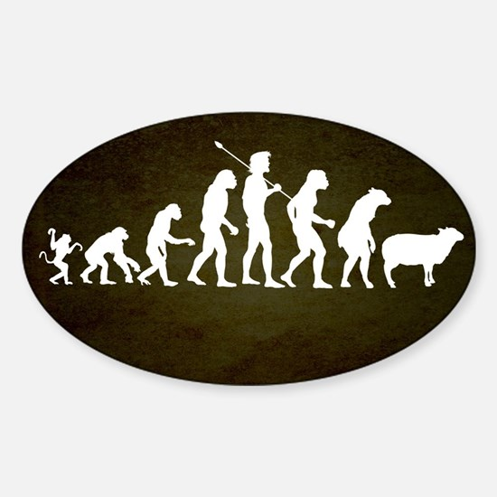 Modern Evolution Sticker (Oval)