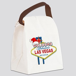 Welcome to Las Vegas Christmas Canvas Lunch Bag