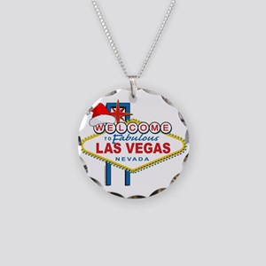 Welcome to Las Vegas Christmas Necklace Circle Cha