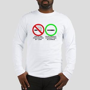 Vaping sticker Long Sleeve T-Shirt