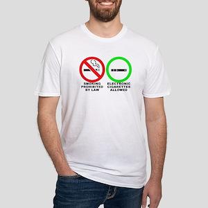 Vaping sticker Fitted T-Shirt