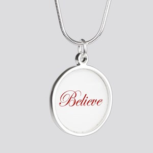Red Believe Silver Round Necklace Necklaces
