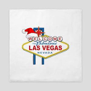 Welcome to Las Vegas Christmas Queen Duvet