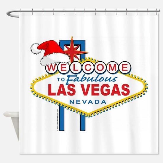 welcome to las vegas christmas shower curtain - Bathroom Accessories Las Vegas