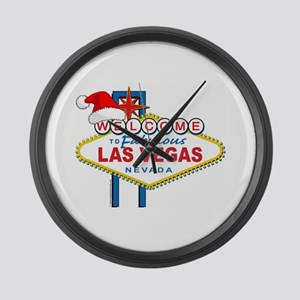 Welcome to Las Vegas Christmas Large Wall Clock