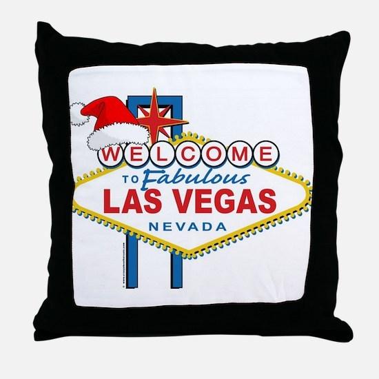 Welcome to Las Vegas Christmas Throw Pillow