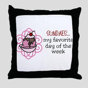 Sundaes Throw Pillow