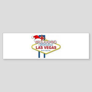 Welcome to Las Vegas Christmas Sticker (Bumper)