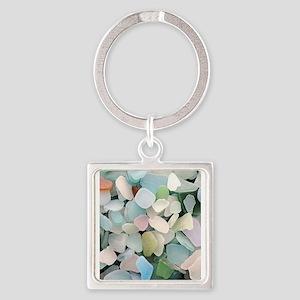 Sea glass Square Keychain