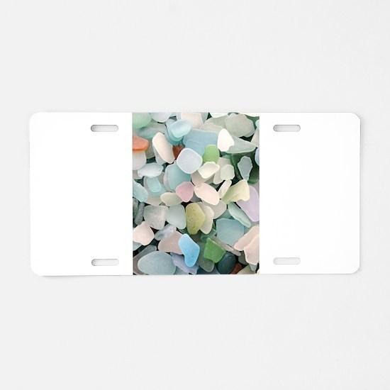 Sea glass Aluminum License Plate