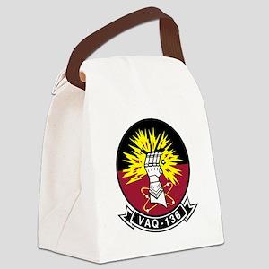 vaq136logo Canvas Lunch Bag