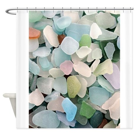 Sea Glass Shower Curtain By Petdrawings