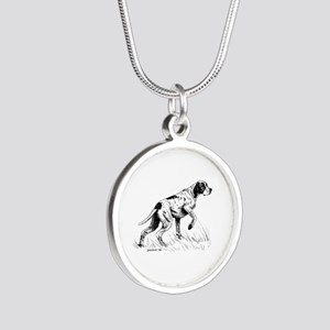 Pointer Silver Round Necklace