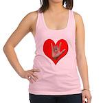 ILY Heart Racerback Tank Top