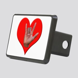 ILY Heart Rectangular Hitch Cover