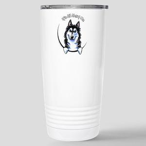 Siberian Husky IAAM Stainless Steel Travel Mug