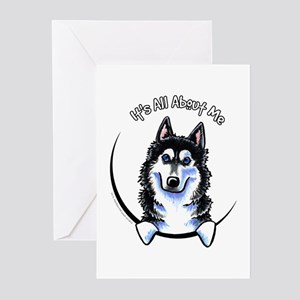 Siberian Husky IAAM Greeting Cards (Pk of 10)