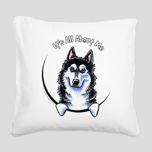 Siberian Husky IAAM Square Canvas Pillow