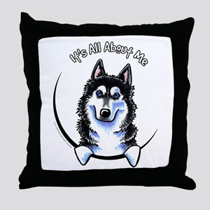 Siberian Husky IAAM Throw Pillow