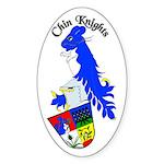 Chin Knights Oval Sticker