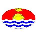 Kiribati Flag Banner Oval Sticker