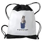 FIN-tabby-gray-good Drawstring Bag
