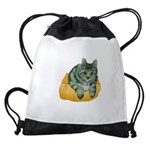 tabby-cat-1-FIN Drawstring Bag