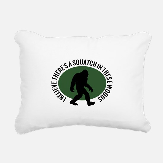 Squatch in these Woods Rectangular Canvas Pillow