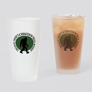 Squatch in these Woods Drinking Glass