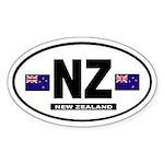 New Zealand International Style Oval Sticker